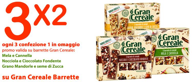 3X2 SU BARRETTE GRAN CEREALE