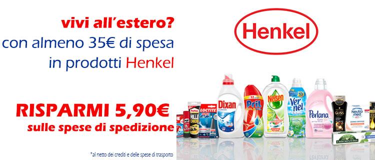 Henkel Spese gratis ESTERO
