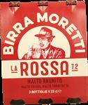 moretti birra la rossa 7,2° ml.330x3