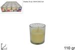 bicchiere candela prof. 110gr vaniglia