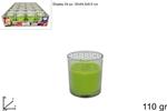 bicchiere candela prof. 110gr mela