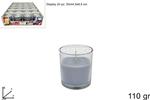 bicchiere candela prof. 110gr muschio