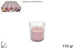 bicchiere candela prof. 110gr rosa