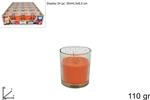 bicchiere candela prof. 110gr arancia