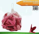 decorazione legno 150gr rosa 7753