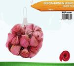 decorazione legno 120gr rosa 7791