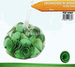 decorazione legno 120gr verde 7807