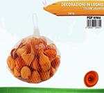 decorazione legno 120gr arancio 7814
