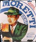 moretti birra bottiglia zero ml.330x3