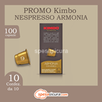 kimbo kit 10x10 nespresso armonia 10pz