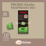 kimbo kit 10x10 nespresso bio 10pz