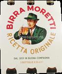 moretti birra bottiglia 4,6° ml.330x3