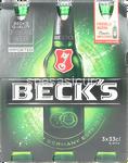 beck's birra bottiglia 5° ml.330x3