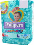 pampers baby dry maxi pz.19