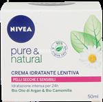 nivea pure & nat.idratante lenitiv.ml.50