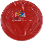 aristea piatto dessert rosso pz.50