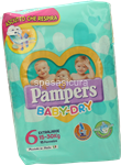 pampers baby dry extralarge pz.15
