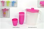 brocca plastica 2,2lt c/6 bicchieri