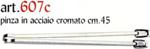 pinza acciaio inox 45cm   607c