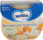 mellin merenda  latte albicocca gr.100x2