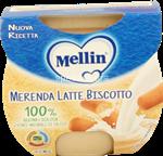 mellin merenda  latte biscotto gr.100x2