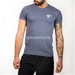 hawkfit t-shirt casual (tessuto tubolare) blu s