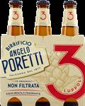 poretti birra 3 lupp.n/filtr.4,8°ml330x3
