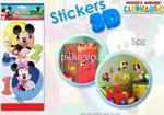 mickey card sticker 3d 15,5x40cm