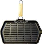 bistecchiera ghisa rett. 21x35cm 6246