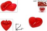 cuore plastica  6cm $$