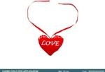 cuore c/nastro per peluche 10cm 0535