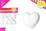 cuore polistirolo  4cm 12pz 551449