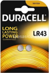 duracell long power pila bottone lr43 2p