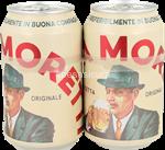 moretti birra 4,6° lattina ml.330x2