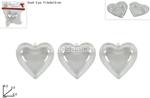 cuore plastica trasp.  6,5cm 3pz ca00822