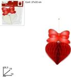 festone cuore c/fiocco 26,5cm