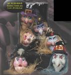 decorazione testa strega 3 pz  $$