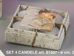 candele 4pz fibra naturale 081507 $$
