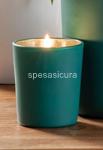 candela c/bicc vetro  h6,5cm 58896##