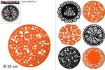 l.feltro centrino 35cm nero/arancio