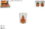 bicchiere c/candela halloween 6,5cm