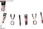 festone coltelli sanguinanti 115cm