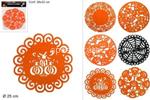 l.feltro centrino 25cm nero/arancio