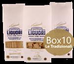 box 10 confezioni: pasta di gragnano le tradizionali igp liguori