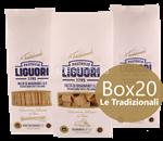 box 20 confezioni: pasta di gragnano le tradizionali igp liguori