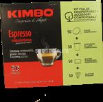 kimbo cialda comp.  espresso nap. 50 pz.x7gr.+ kit (50 bicch. + 50 pal