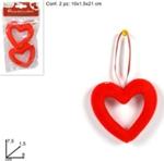 appendino cuore  8cm 2pz ro008079