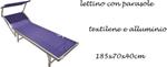 lettino c/paras text blu 185x70x40cm a
