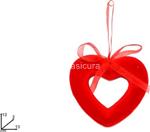 appendino cuore 13cm velluto gi005724