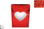 busta regalo vetrinetta cuore 42x33x12cm